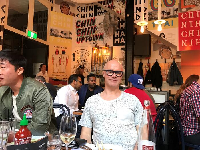 Bertrand Duchaufour at Chin Chin in Melbourne