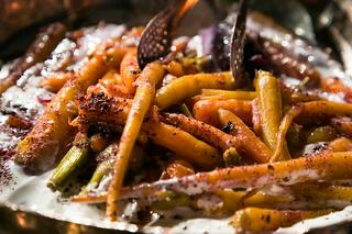 Chargrilled sandalwood carrot salad