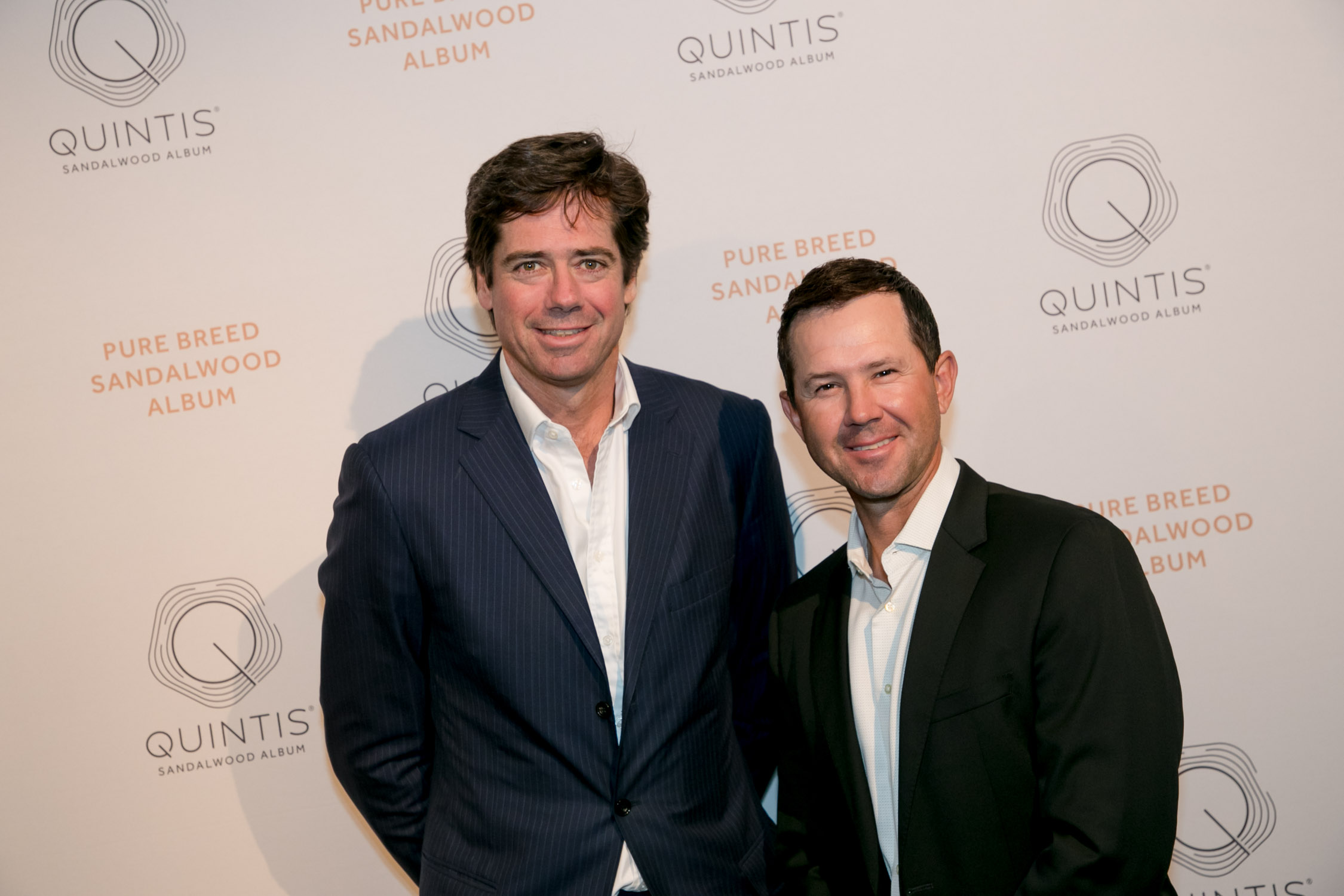 Gillon McLachlan and Ricky Ponting at Quintis launch event